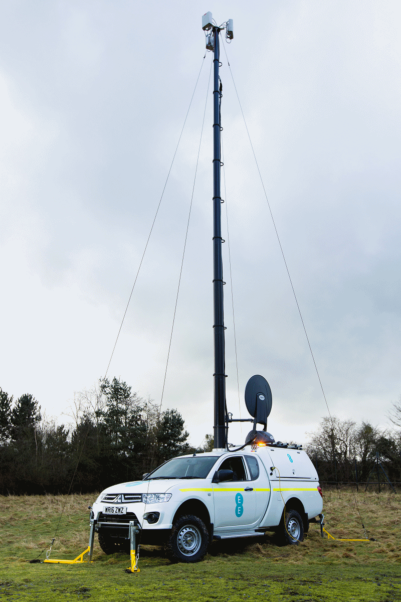 ee rrv van and 4g mast