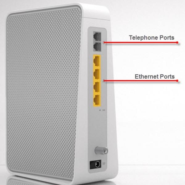 virgin media superhub3 telephone ports voip