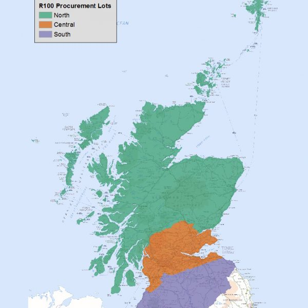 scotland r100 broadband lots map uk
