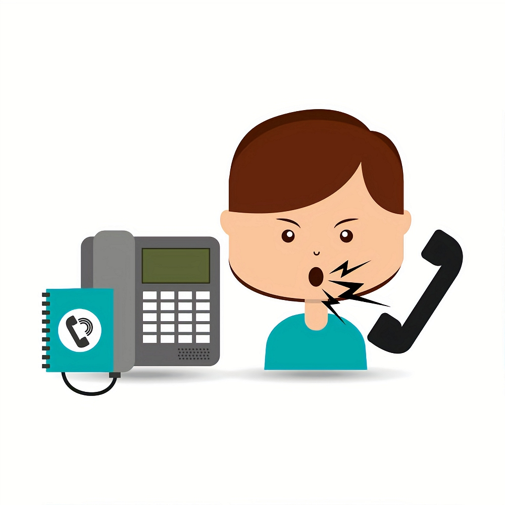 woman customer complaints call center vector illustration eps 10