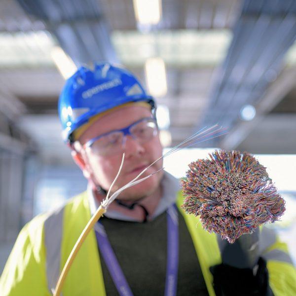 copper vs fibre optic openreach engineer