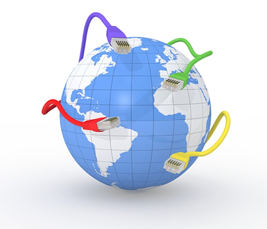 world network and broadband connections
