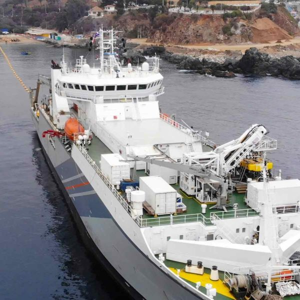 google grace hopper fibre optic cable laying ship