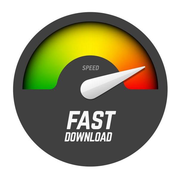 SpeedTest broadband fast download