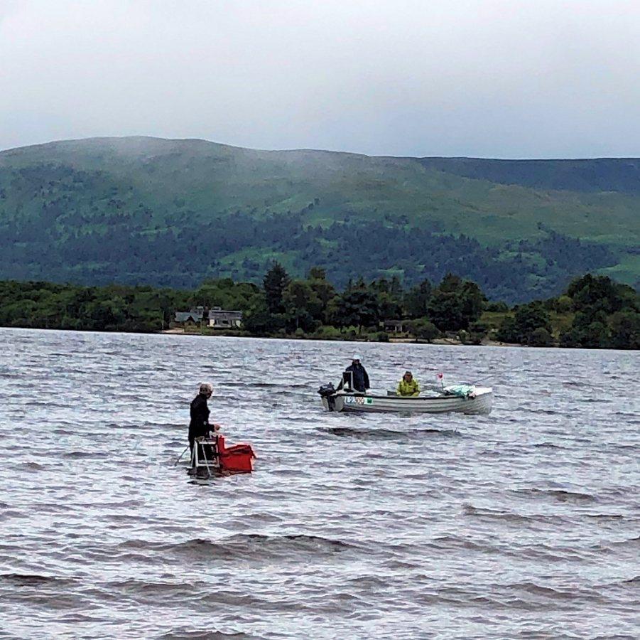 John-McConnell-on-ladder-in-Loch-Lomond