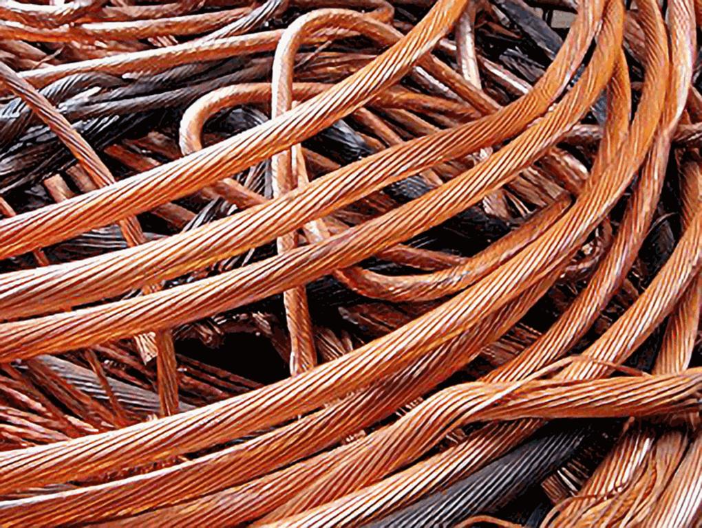 copper cable pile