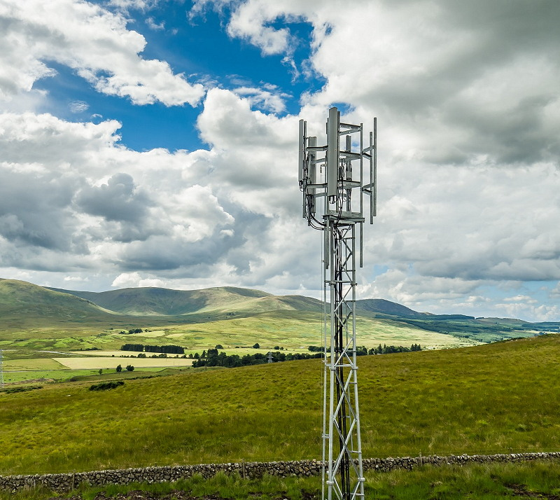 ee mobile mast tower in scotland