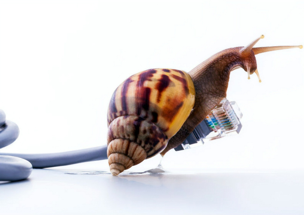 slow as a snail uk network connection