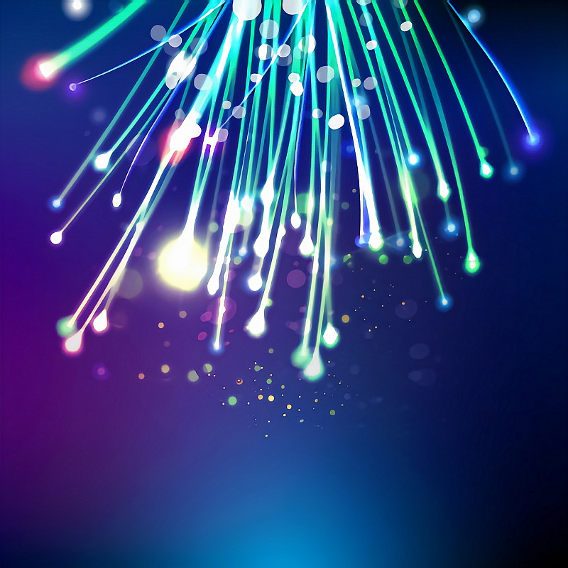 fibre optic cables coloured from above