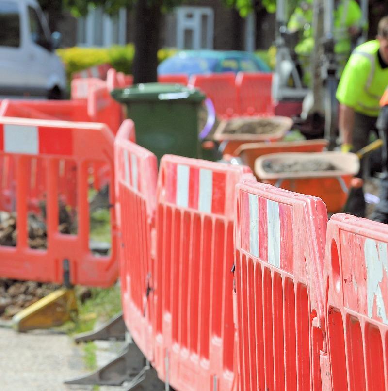 cityfibre construction fences