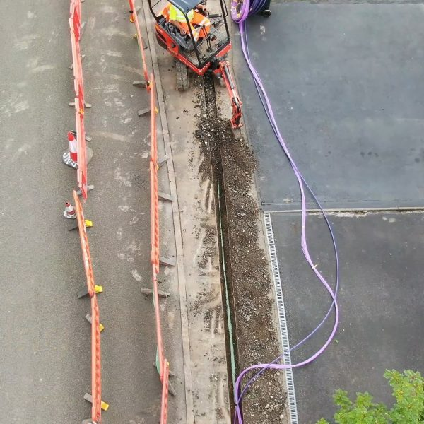 cityfibre over top narrow trenching ftth