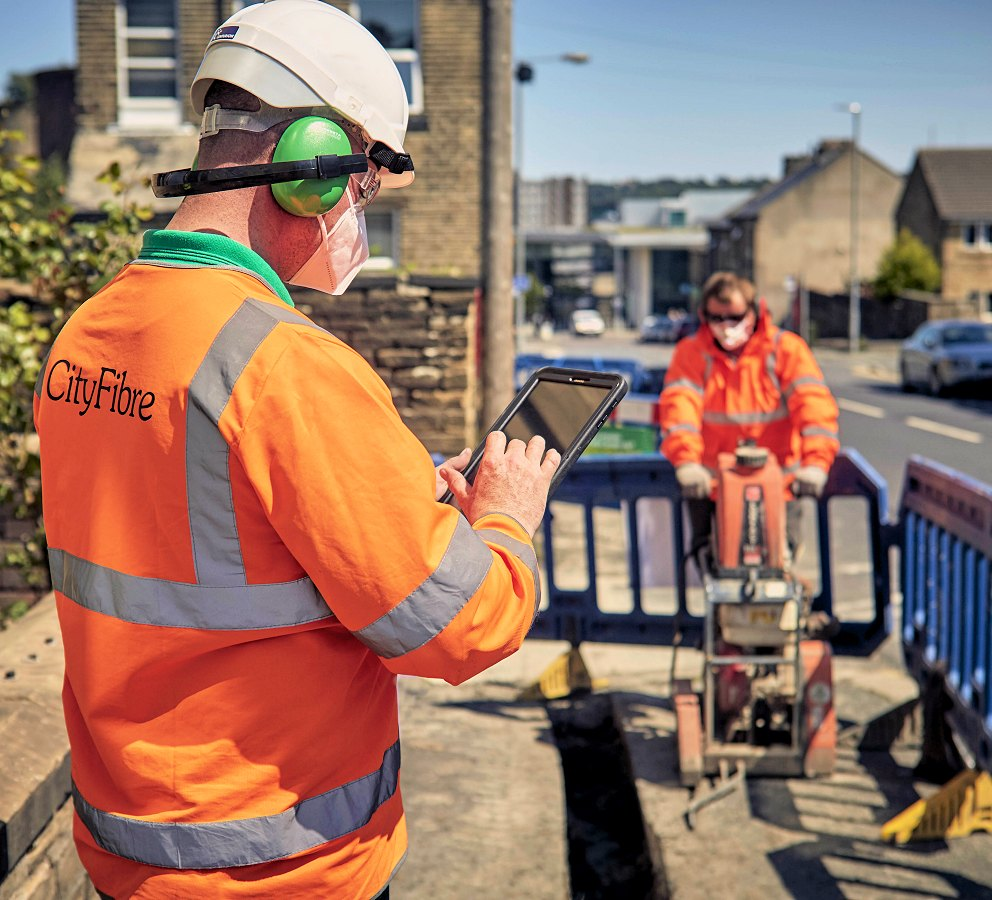 cityfibre street works engineer fttp