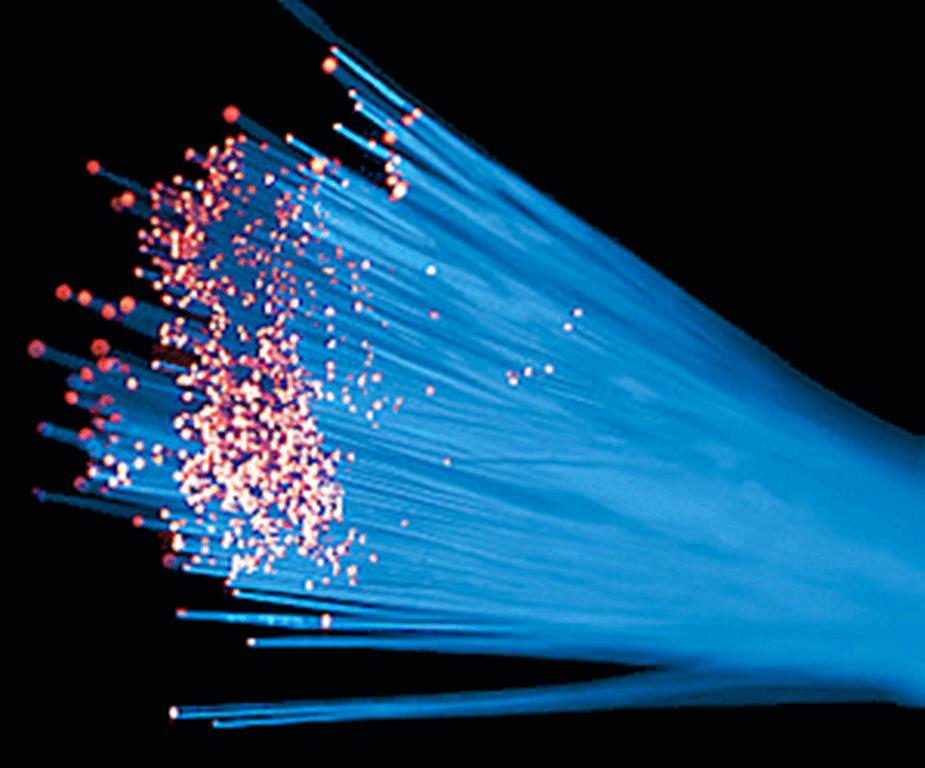 fiber optic cable bright