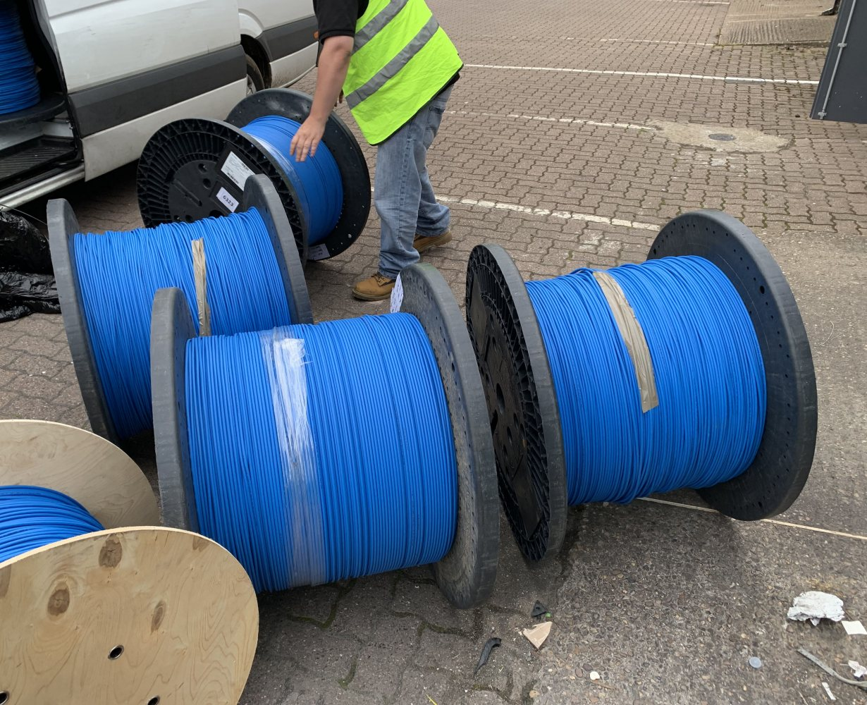 exascale_fibre_optic_cable_drums