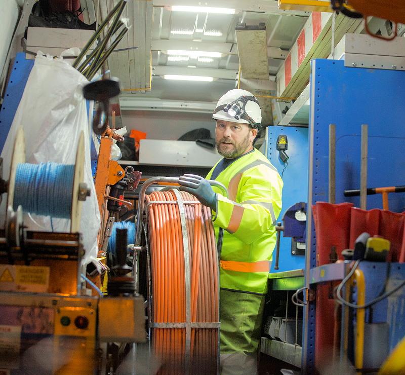 fibre optic cable deployment bt openreach
