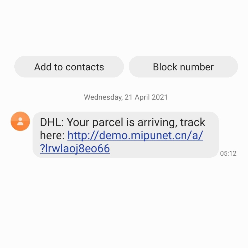 DHL_Delivery_Flubot_Scam_Message