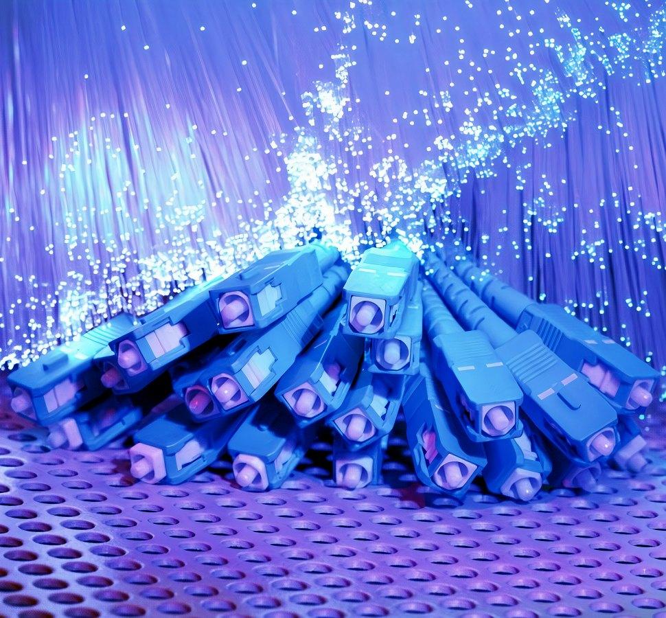 fibre optic cables pile 2020
