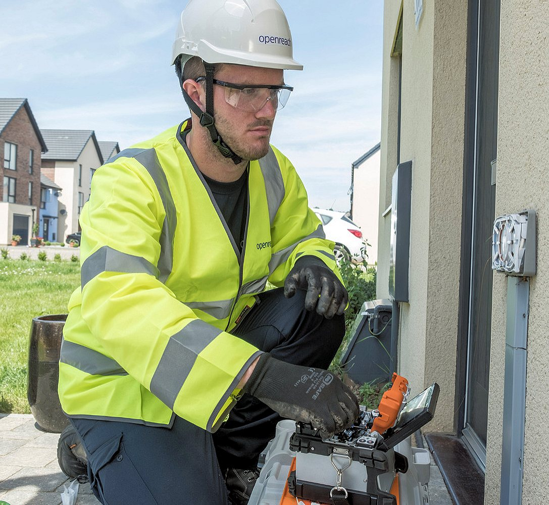 new build house fttp openreach engineer photo