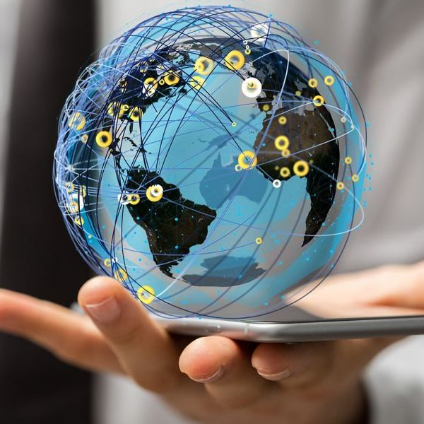 A internet net and data digital concept