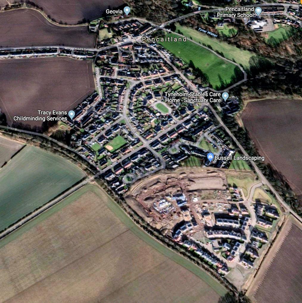 Pencaitland_map_east_lothian_scotland