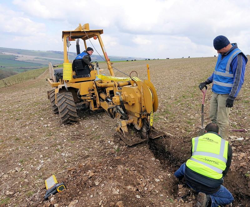 wessex internet fibre optic rural hill deployment