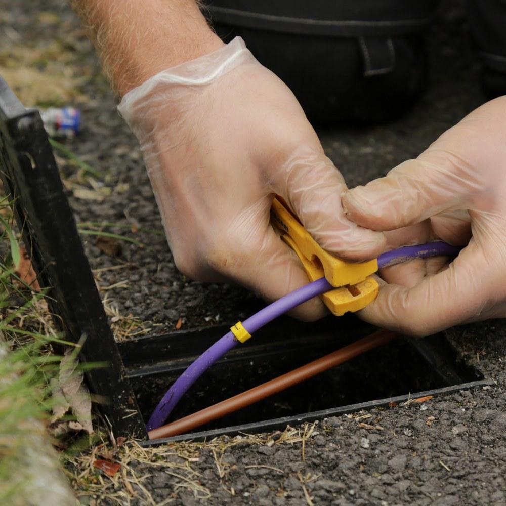 CityFibre Garden Install blown fibre tube