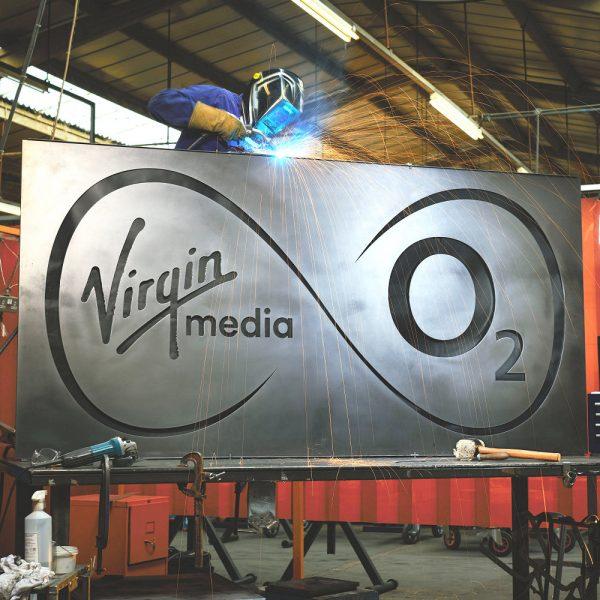 Virgin Media O2 UK Logo is forged
