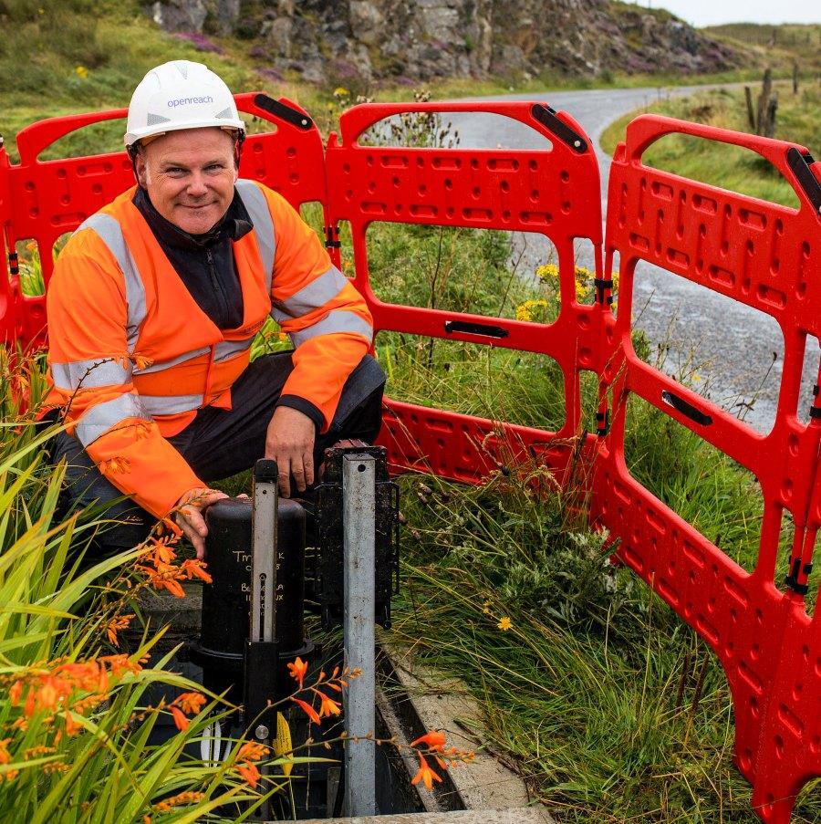 rural fibre broadband engineer openreach