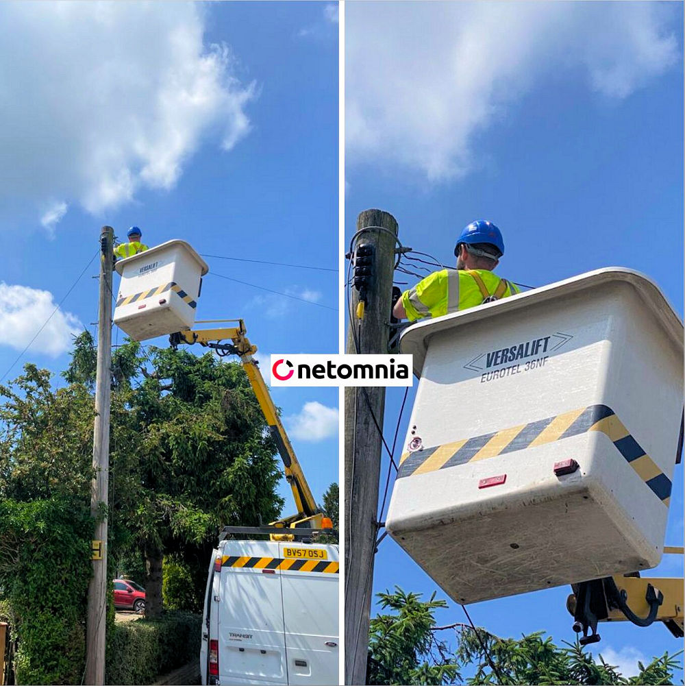 Netomnia Engineer up Telegraph Pole