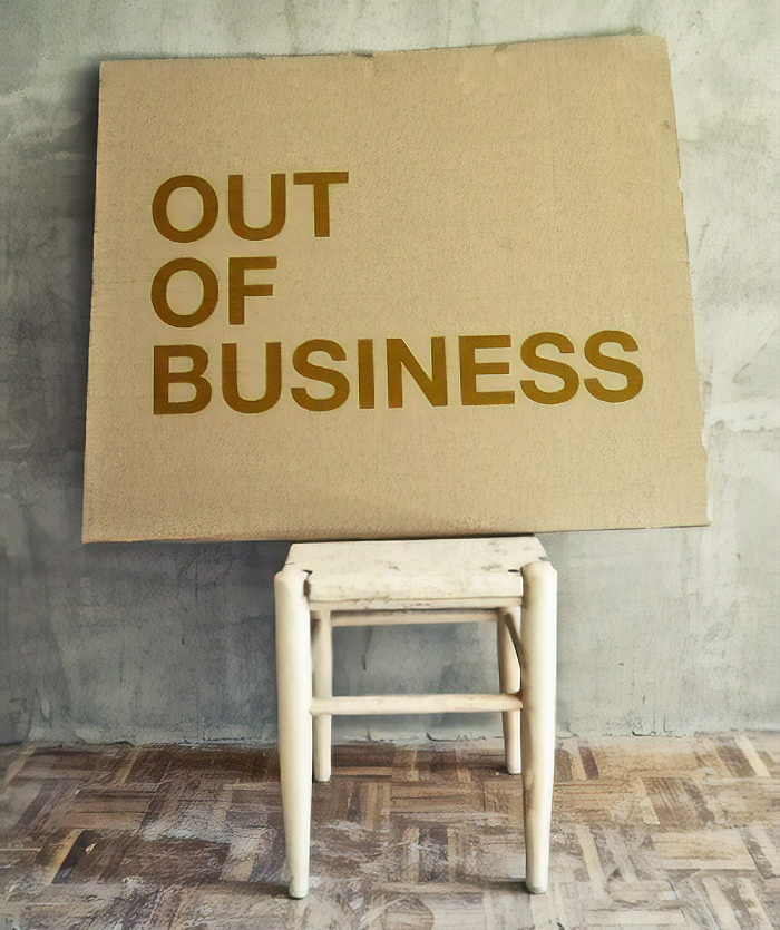 closed down business
