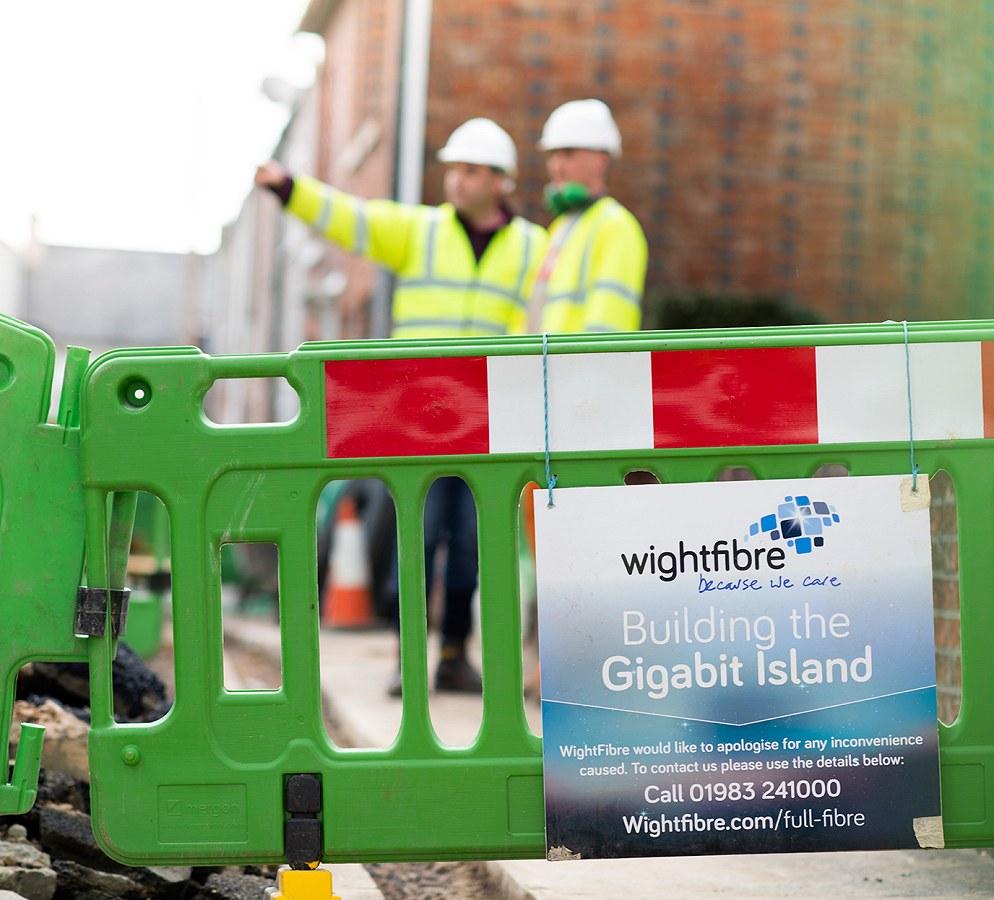 wight fibre ftth sign