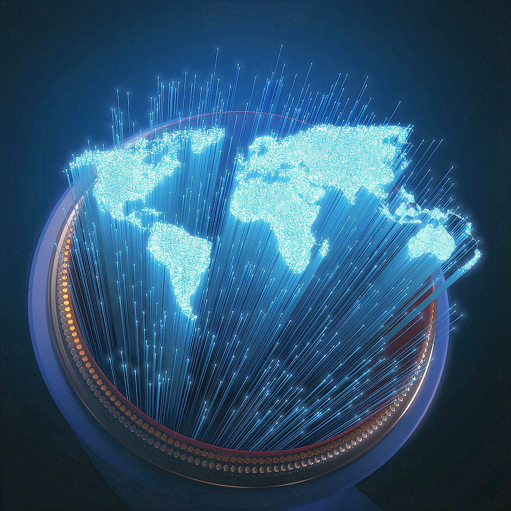 world broadband internet connectivity image