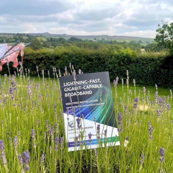 SWS Broadband Leaflet in Rural Field