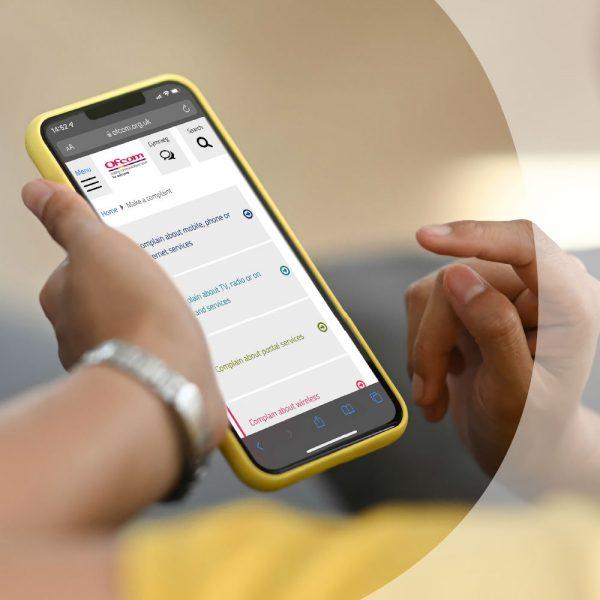 Consumers-Complaints-for-Ofcom-UK-via-Smartphone