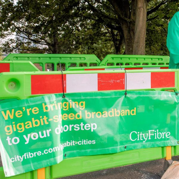 CityFibre Fence and Banner