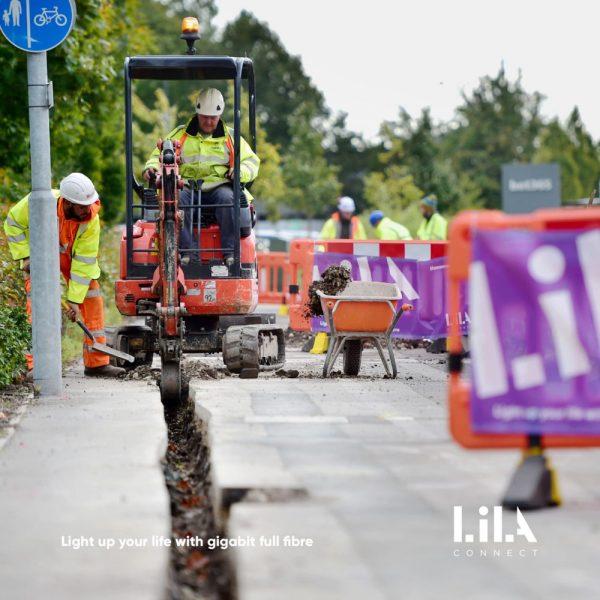 VX FIBER Lila Connect FTTP street works