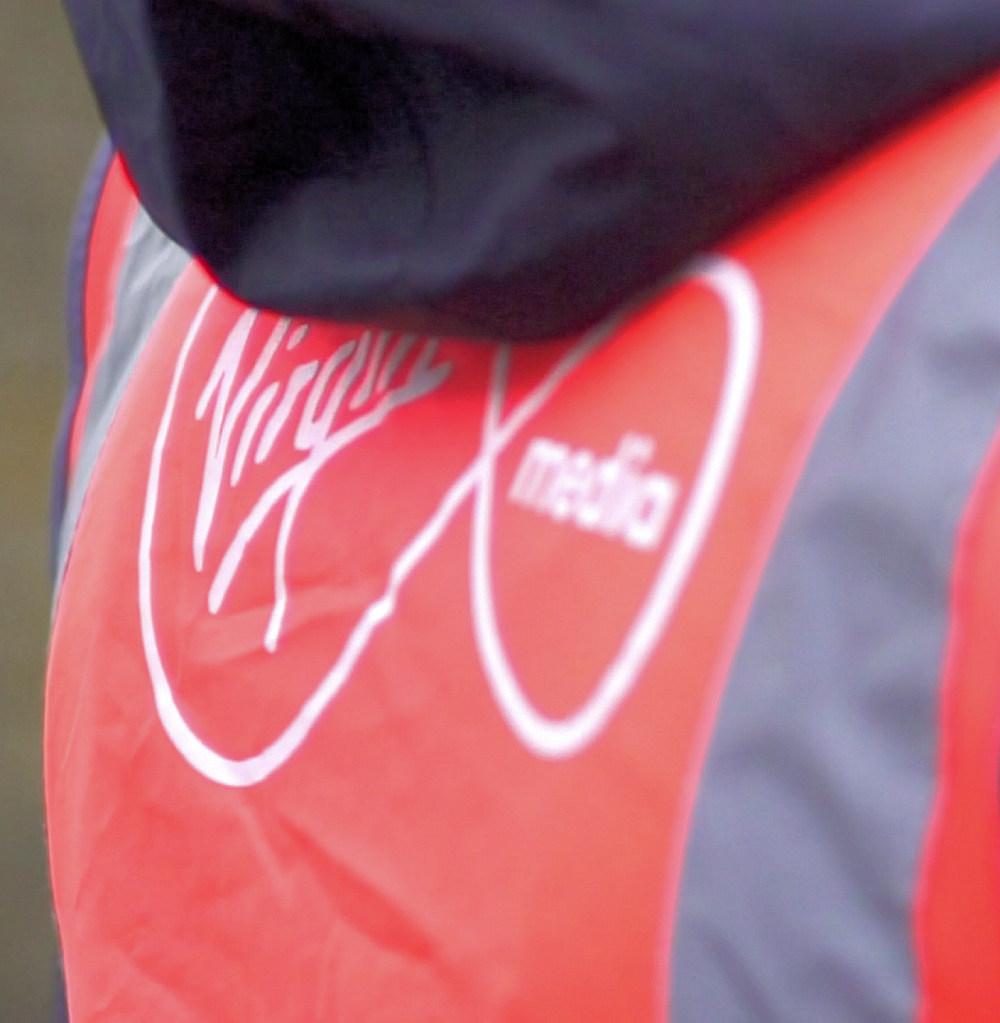 virgin media engineer jacket close up