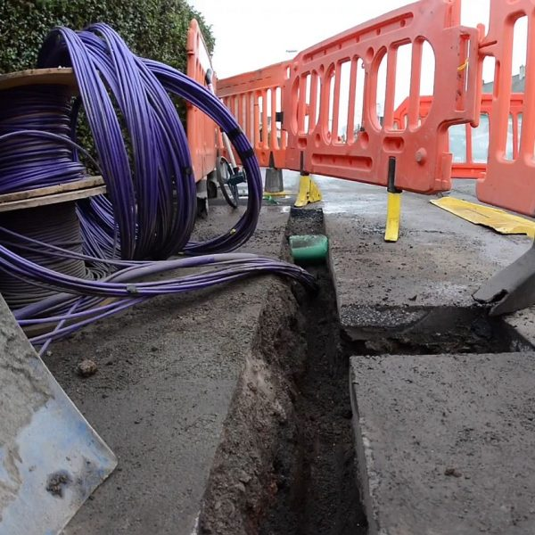 cityfibre ftth narrow trench safe dig