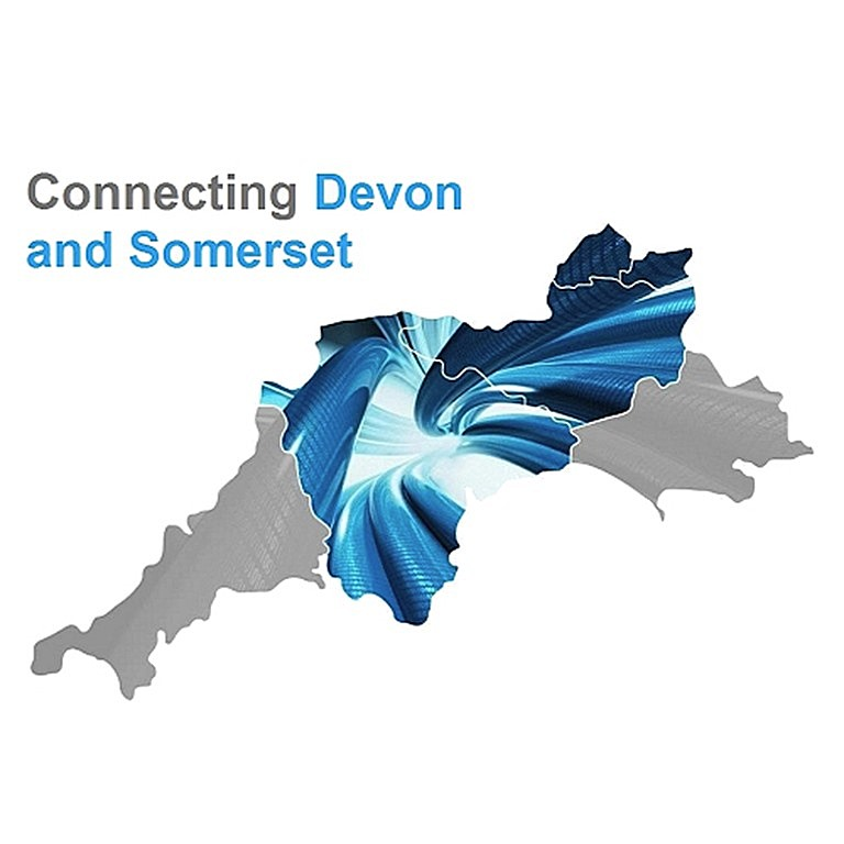 connecting devon and somerset uk logo map 2016