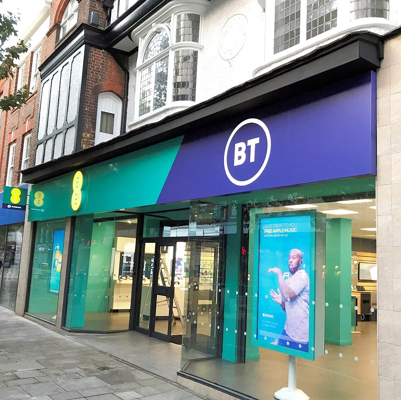 bt ee shop front