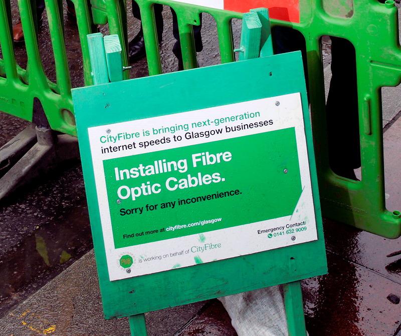 cityfibre installing fibre optic cables in uk city