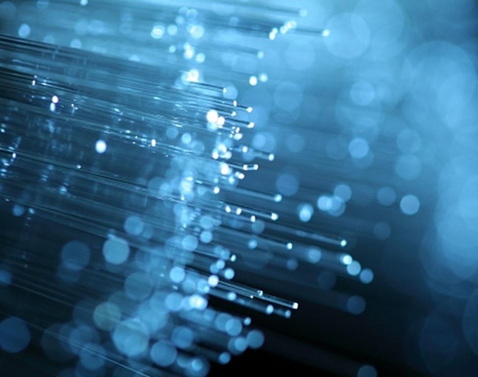 fibre optic blue light abstract 2017