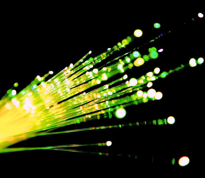 green yellow fibre optic freepix