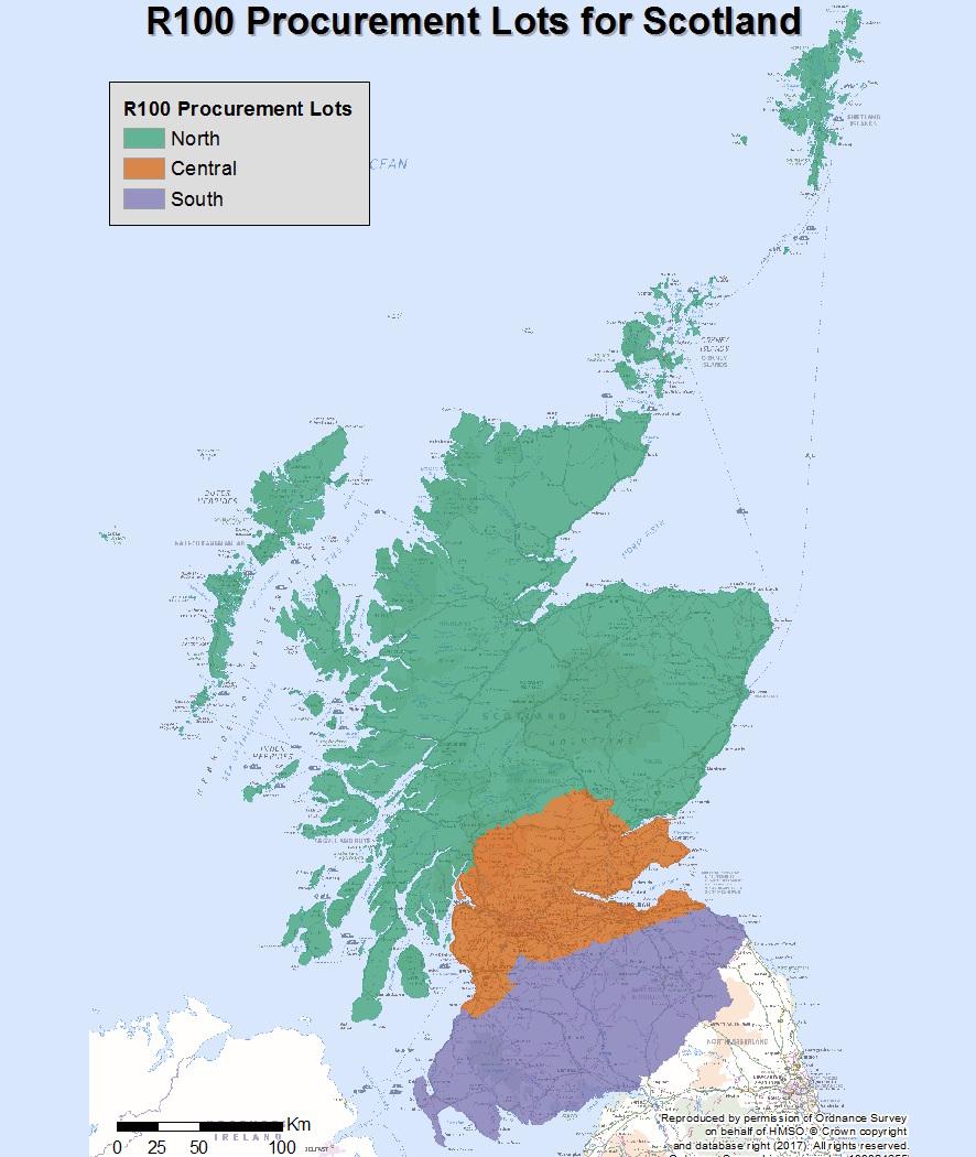 scotland r100 broadband lots map uk