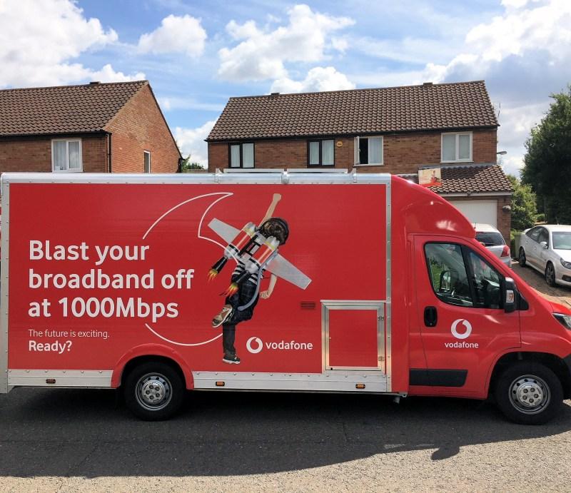 vodafone gigafast ftth broadband van