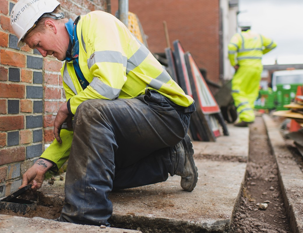 wightfibre trenching to homes fttp